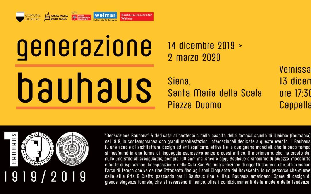 """Complesso Museale Santa Maria della Scala, """"Generazione Bauhaus"""" , dedicata al centenario della nascita della famosa scuola di Weimar (Germania) nel 1919."""